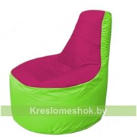 Кресло мешок Трон Т1.1-0407(фуксия-салатовый)