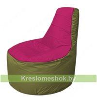 Кресло мешок Трон Т1.1-0410(фуксия-оливковый)