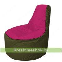 Кресло мешок Трон Т1.1-0411(фуксия-тем.оливковый)