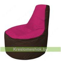 Кресло мешок Трон Т1.1-0419(фуксия-коричневый)