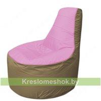 Кресло мешок Трон Т1.1-0321(розовый-тем.бежевый)