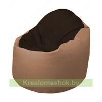 Кресло-мешок Браво Б1.3-F01F06 (темно-коричневый, бежевый)