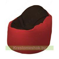 Кресло-мешок Браво Б1.3-F01F09 (темно-коричневый, красный)
