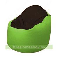 Кресло-мешок Браво Б1.3-F01F19 (темно-коричневый, салатовый)