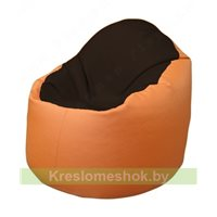 Кресло-мешок Браво Б1.3-F01F20 (темно-коричневый, оранжевый)