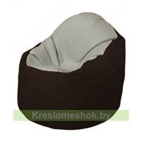 Кресло-мешок Браво Б1.3-F02F01 (светло-серый, темно-коричневый)