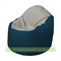 Кресло-мешок Браво Б1.3-F02F04 (светло-серый, темно-синий)