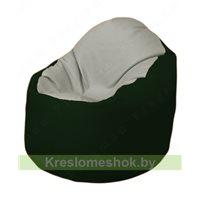 Кресло-мешок Браво Б1.3-F02F05 (светло-серый, темно-зелёный)