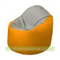 Кресло-мешок Браво Б1.3-F02F06 (светло-серый, жёлтый)