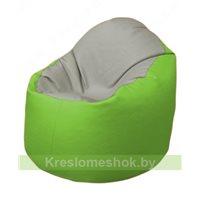 Кресло-мешок Браво Б1.3-F02F19 (светло-серый, салатовый)