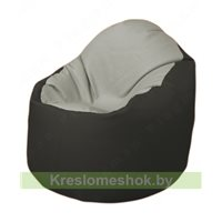 Кресло-мешок Браво Б1.3-F02F38 (светло-серый, чёрный)