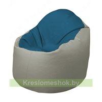 Кресло-мешок Браво Б1.3-F03F02 (синий, светло-серый)
