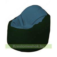 Кресло-мешок Браво Б1.3-F03F05 (синий, темно-зелёный)