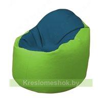 Кресло-мешок Браво Б1.3-F03F19 (синий - салатовый)