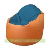 Кресло-мешок Браво Б1.3-F03F20 (синий - оранжевый)