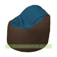 Кресло-мешок Браво Б1.3-F03F26 (синий - коричневый)