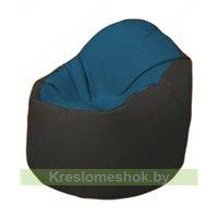 Кресло-мешок Браво Б1.3-F03F38 (синий - чёрный)