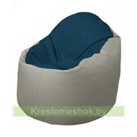 Кресло-мешок Браво Б1.3-F04F02 (темно-синий, светло-серый)