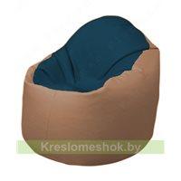 Кресло-мешок Браво Б1.3-F04F06 (темно-синий, бежевый)