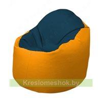 Кресло-мешок Браво Б1.3-F04F06 (темно-синий, жёлтый)