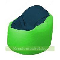 Кресло-мешок Браво Б1.3-F04F07 (темно-синий, салатовый)
