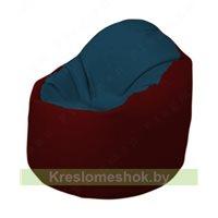 Кресло-мешок Браво Б1.3-F04F08 (темно-синий, бордовый)