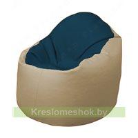 Кресло-мешок Браво Б1.3-F04F13 (темно-синий, бежевый)