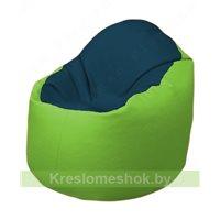 Кресло-мешок Браво Б1.3-F04F19 (темно-синий, салатовый)