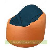 Кресло-мешок Браво Б1.3-F04F20 (темно-синий, оранжевый)