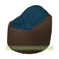 Кресло-мешок Браво Б1.3-F04F26 (темно-синий, коричневый)