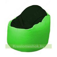 Кресло-мешок Браво Б1.3-F05F07 (темно-зеленый, салатовый)