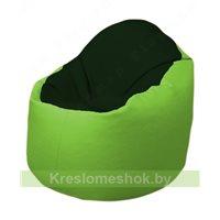 Кресло-мешок Браво Б1.3-F05F19 (темно-зеленый, салатовый)