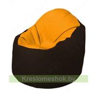 Кресло-мешок Браво Б1.3-F06F01 (желтый, темно-коричневый)