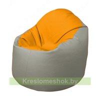 Кресло-мешок Браво Б1.3-F06F02 (желтый, светло-серый)