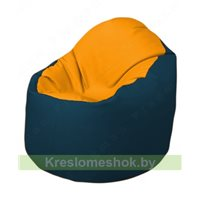 Кресло-мешок Браво Б1.3-F06F04 (желтый, тёмно-синий)