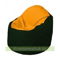 Кресло-мешок Браво Б1.3-F06F05 (желтый, тёмно-зелёный)