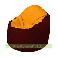 Кресло-мешок Браво Б1.3-F06F08 (желтый - бордовый)