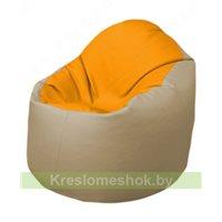 Кресло-мешок Браво Б1.3-F06F13 (желтый - бежевый)