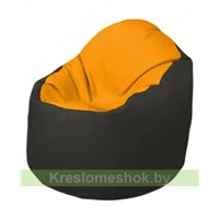 Кресло-мешок Браво Б1.3-F06F38 (желтый - чёрный)