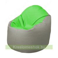 Кресло-мешок Браво Б1.3-F07F02 (салатовый, светло-серый)