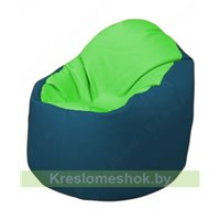 Кресло-мешок Браво Б1.3-F07F03 (салатовый - синий)