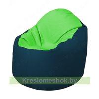 Кресло-мешок Браво Б1.3-F07F04 (салатовый, тёмно-синий)
