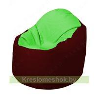 Кресло-мешок Браво Б1.3-F07F08 (салатовый - бордовый)