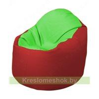 Кресло-мешок Браво Б1.3-F07F09 (салатовый - красный)