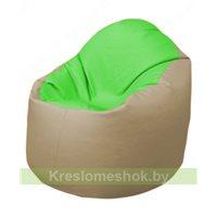 Кресло-мешок Браво Б1.3-F07F13 (салатовый - бежевый)