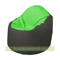 Кресло-мешок Браво Б1.3-F07F17 (салатовый, тёмно-серый)