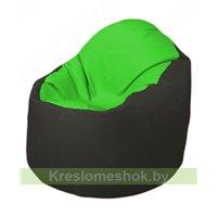 Кресло-мешок Браво Б1.3-F07F38 (салатовый - чёрный)