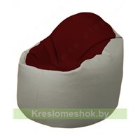 Кресло-мешок Браво Б1.3-F08F02 (бордовый, светло-серый)