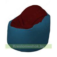 Кресло-мешок Браво Б1.3-F08F03 (бордовый - синий)
