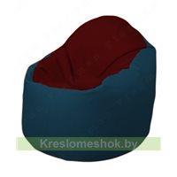 Кресло-мешок Браво Б1.3-F08F04 (бордовый, тёмно-синий)